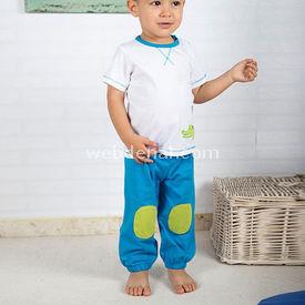 Wonder Kids Natural Life 2li Bebek Penye Takım Mavi 3-6 Ay (62-68 Cm) Erkek Bebek Takım