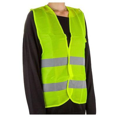 İş Koruma Reflektörlü Trafik Ikaz Yeleği - Fosforlu Yeşil İş Elbisesi