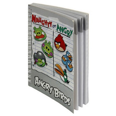 Keskin Color Angry Birds A6 80yp Metalize Bloknot Defter