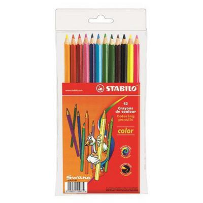 Stabilo Color Kuru Boya 12 Renk Resim Malzemeleri