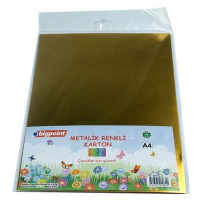 Bigpoint Metalik Renkli Karton A4 Karışık 10 Renk Resim Malzemeleri
