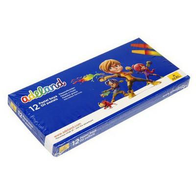 Adel and Pastel Boya Karton Kutu 12 Renk Resim Malzemeleri