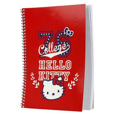 Hello Kitty A5 Kareli Spiralli Okul i 96 Yaprak Defter