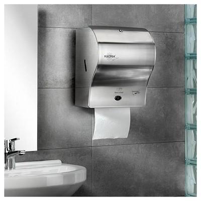 Rulopak Kağıt Havlu Makinesi Paslanmaz Çelik 21 Cm Model R-1301p Kağıt Havlu Dispenseri