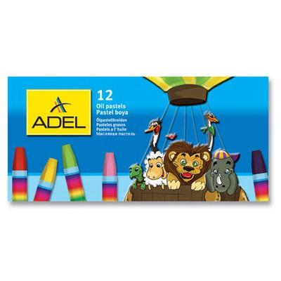 Adel Karton Kutu Pastel Boya 12 Renk Resim Malzemeleri