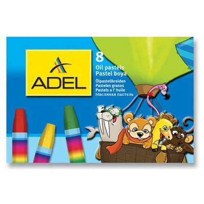 Adel Karton Kutu Pastel Boya 8 Renk Resim Malzemeleri