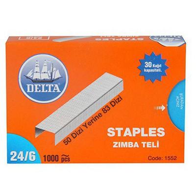 Delta Zımba Teli No: 24/6 Beyaz Zımba Telleri