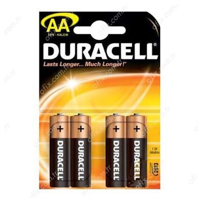 Duracell Kalem Pil AA Alkalin 4 Adet Pil / Şarj Cihazı
