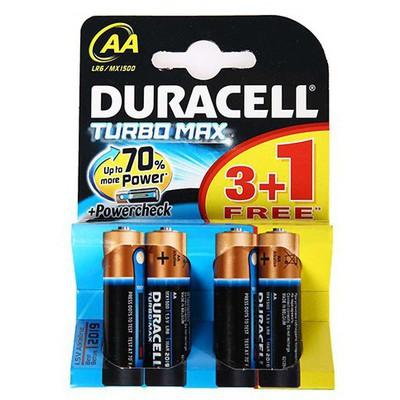 Duracell Alkalin Turbo Max Aa Kalem Pil 4'lü Paket