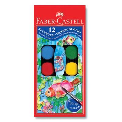 Faber Castell Redline Suluboya 12 Renk Küçük Boy Resim Malzemeleri