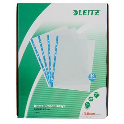 Leitz Poşet  Kristal A4 100'lü Paket (4700) Dosya