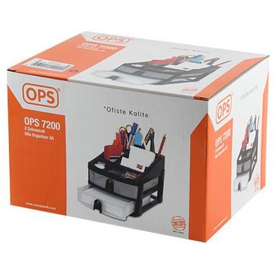 OPS Ofis Organizer 2 Çekmeceli A5 Ebatlı (7200) Evrak Rafları