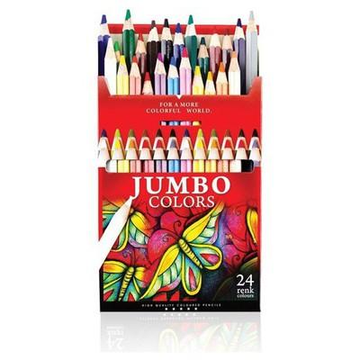 Fatih Jumbo 24 Renk Tam Boy Boya Kalemi Resim Malzemeleri