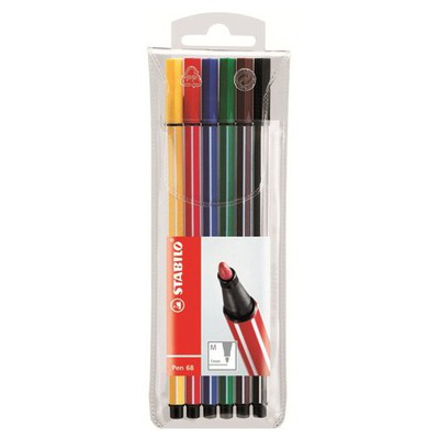 stabilo-pen-68-6-renk-paket-seffaf