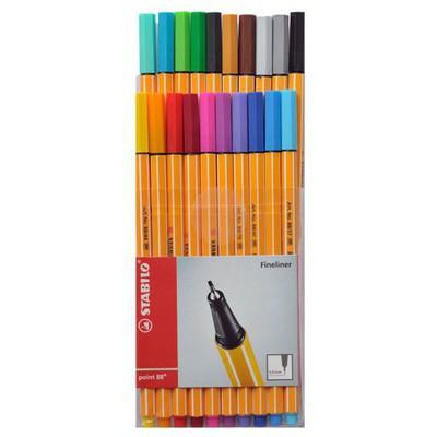 Stabilo Point 88 20 Renk Şeffaf Paket Resim Malzemeleri