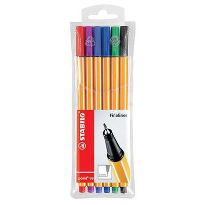 Stabilo Point 88 6 Renk Şeffaf Paket Resim Malzemeleri