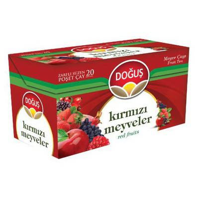 Doğuş Bardak Poşet Çay Kırmızı Meyve Aromalı 20 Adet Bitki Çayı