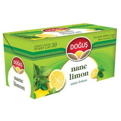 Doğuş Poşet Çay Nane Limon Aromalı 20 Adet Bitki Çayı
