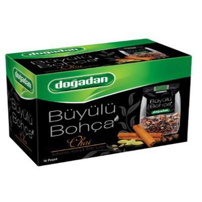 Dogadan Büyülü Bohça Bardak Poşet Çayı Karışık Baharat Aromalı 16 Adet Bitki Çayı