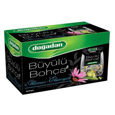 Dogadan Büyülü Bohça Bardak Poşet Çay Ihlamur Ekinezya Aromalı 16 Adet Bitki Çayı