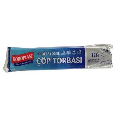 Koroplast Profesyonel Çöp Torbası 10 Adet Jumbo Boy 80x110 Cm