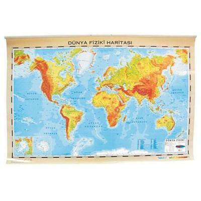 Interpano Inter Dünya Fiziki Haritası Alm.çerçeveli 70x100 Cm Tahta & Pano