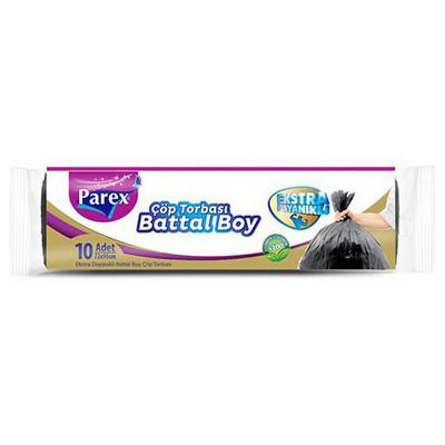 Parex Çöp Poşeti Premium Battal Boy 72x95 Cm Siyah 10 Adet Çöp Torbaları