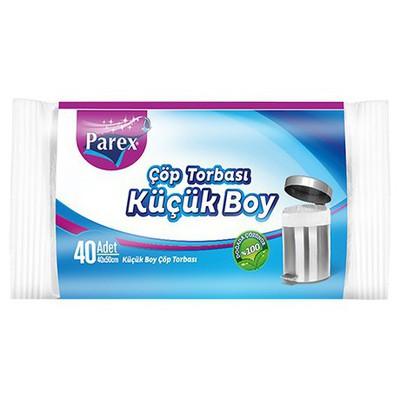 Parex Çöp Poşeti Ekonomik Küçük Boy 40x50 cm 40 Adet Çöp Torbaları