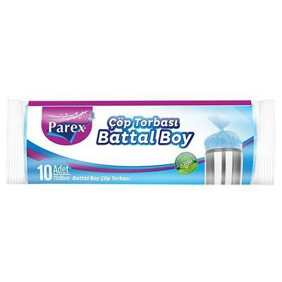 Parex Çöp Poşeti Ekonomik Battal Boy 72x95 Cm Mavi 10 Adet Çöp Torbaları