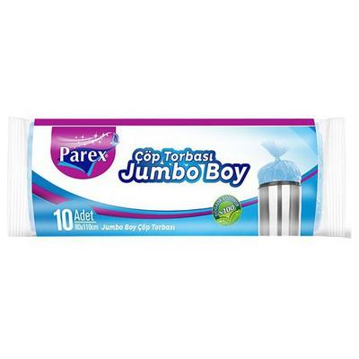 Parex Çöp Poşeti Ekonomik Jumbo Boy 80x110 Cm Mavi 10 Adet Çöp Torbaları