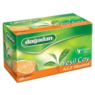 Dogadan Bardak Poşet Yeşil Çay A,c,e Vitaminli 20 Adet Bitki Çayı