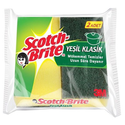 Scotch-Brite Yeşil Klasik Sünger 2'li Bez / Sünger