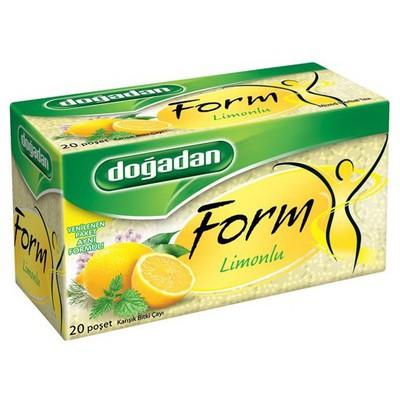 Dogadan Form Bardak Poşet Çay Limon Aromalı 20 Adet Bitki Çayı