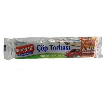 Koroplast Premium Çöp Torbası 10 Adet Battal Boy 72x95 Cm Çöp Torbaları