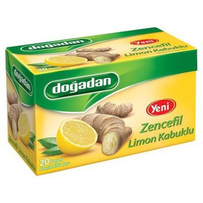 Dogadan Bardak Poşet Çay Zencefil Limon Kabuğu Aromalı 20 Adet Bitki Çayı