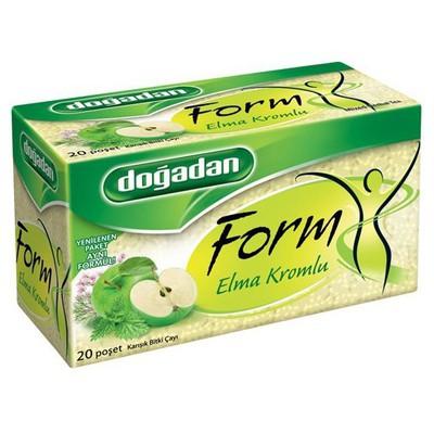 Dogadan Form Bitki Poşet Çayı Elma Krom Aromalı 20 Adet Bitki Çayı
