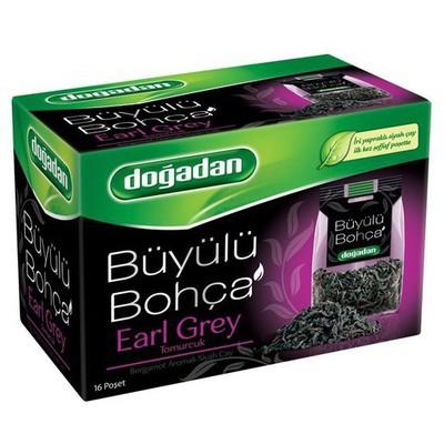 Dogadan Büyülü Bohça Bardak  Earl Grey Bergamotlu 16 Adet Poşet Çay