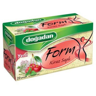 Dogadan Form Bardak Poşet  Kiraz Sapı Aromalı 20 Adet Bitki Çayı