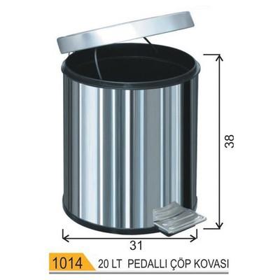 Arı Metal Çöp Kovası Pedallı 20 Lt Model 1014