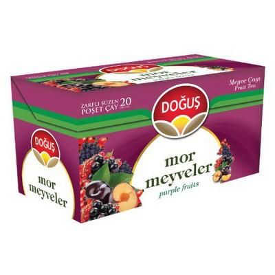 Doğuş Bardak Poşet Çay Mor Meyve Aromalı 20 Adet Bitki Çayı
