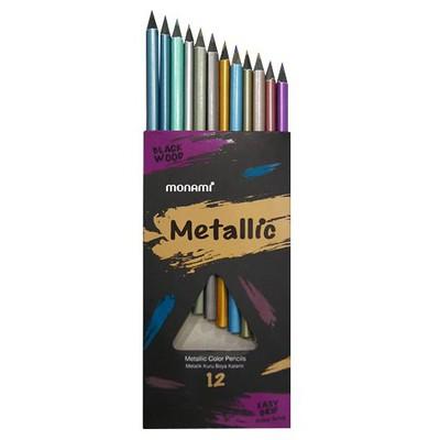 Monami Metalik Kuru Boya 12 Renk Resim Malzemeleri