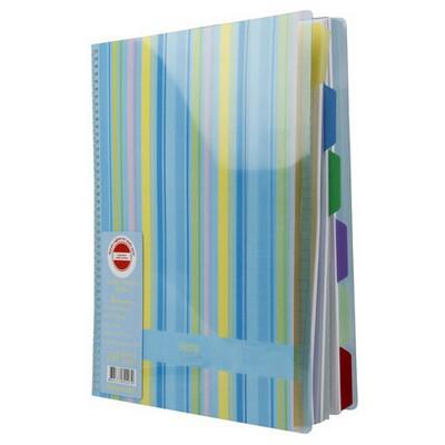 Notte Spiralli Plastik Kapak A4 6 Index 150 Yaprak Çizgili Defter
