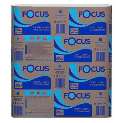 Focus Extra Z Katlı Havlu 200'lü 12'li Paket Kağıt Havlu