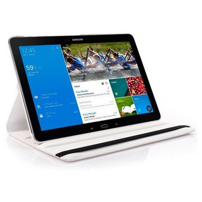 Microsonic 360 Rotating Stand Deri Samsung Galaxy Note Pro 12.2'' Sm-p900 Kılıf Beyaz Tablet Kılıfı
