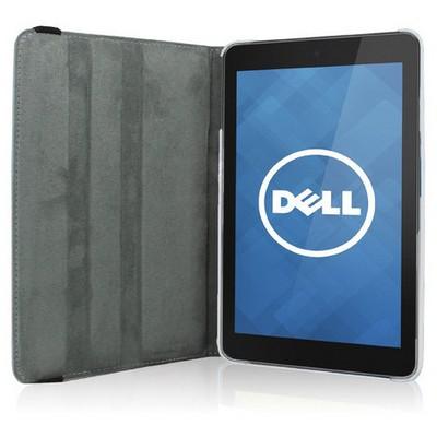 Microsonic 360 Rotating Stand Deri 7'' Dell Venue 7 Tablet Kılıf Beyaz Tablet Kılıfı