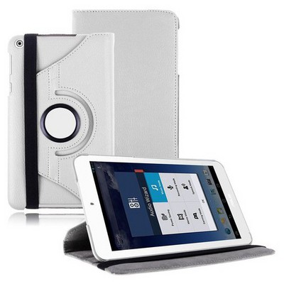 Microsonic 360 Rotating Stand Deri 8'' Asus Memo Pad 8 Me181c Tablet Kılıf Beyaz Tablet Kılıfı