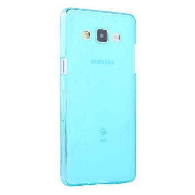 Microsonic Transparent Soft Samsung Galaxy A7 Kılıf Mavi Cep Telefonu Kılıfı