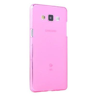 Microsonic Transparent Soft Samsung Galaxy A7 Kılıf Pembe Cep Telefonu Kılıfı