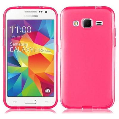 Microsonic Transparent Soft Samsung Galaxy Core Prime Kılıf Pembe Cep Telefonu Kılıfı