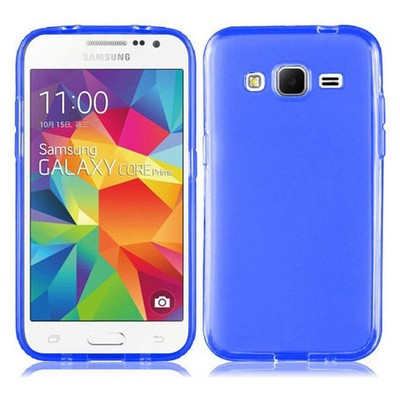 Microsonic Transparent Soft Samsung Galaxy Core Prime Kılıf Mavi Cep Telefonu Kılıfı